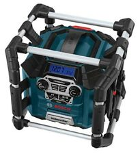 BOSCH Power Box Rechargeable Jobsite Radio AUX MP3 CD 360 Sound 18V Lithium-ion