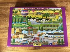 Hometown Collection Jigsaw Puzzle Mushroom Farm 1000 pc  2001 Heronim Rare