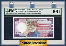 TT PK 93a 1982 SRI LANKA 20 RUPEES PMG 66 EPQ GEM POP ONE FINEST KNOWN!