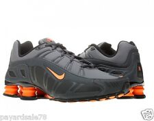 NIKE SHOX TURBO RUNNING SHOES MEN'S SIZE 8.5 BLACK GREY ORANGE SNEAKERS 3.2 SL