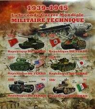 WWII World War II Weapons - Tanks - m/s Tchad 2012 MNH #tchad2012-01