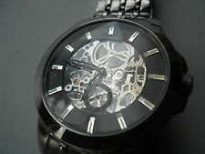 Fossil skeleton Mens Automatic water resistant stainless steel watch.ME-1027