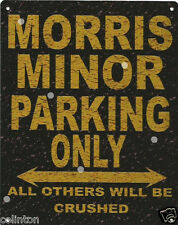 MORRIS MINOR PARKING METAL SIGN RUSTIC VINTAGE STYLE 8x10in 20x25cm garage