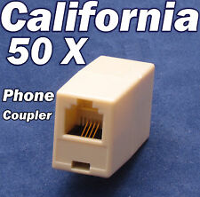 Lot 50 X RJ11 Phone Coupler Joiner Adapter Telephone Cable wire Jack Connector