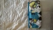 coast clutch / handbag with teal, yellow and black - new