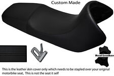 BLACK STITCH CUSTOM FITS BMW F 650 FUNDURO 93-00 REAL DUAL LEATHER SEAT COVER