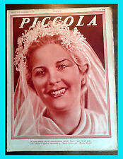 1935 - PICCOLA magazine VANNA PEGNA BETTY GRABLE JOAN CRAWFORD MARCELLE CHANTAL