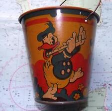 Superb c1930 Happynak Disney Minnie Mickey Mouse Sand Pail Bucket Used Condition