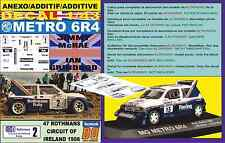ANEXO DECAL 1/43 MG METRO 6R4 ROTHMANS J.MCRAE CIRCUIT OF IRELAND 1986 (02)