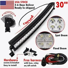 30inch 180w curved LED work light bar SPOT FLOOD offroad 4WD boat UTE 4X4 ATV 32