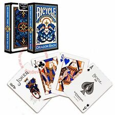 Bicycle Dragon Back Deck - Blue - Playing Cards - Magic Tricks - New