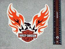 RARE Large HARLEY DAVIDSON MOTORCYCLES BAR & SHIELD FLAMES Outside Decal Sticker