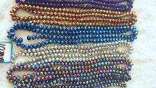 Joblot of 12 strings (864 beads) 10mm Mixed colour Crystal beads new lot 1