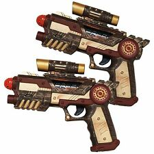 A Pair of Steampunk Gun Pistols Nemo Prop Blaster Handgun Cosplay Accessory 2pc