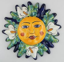 Mexican Talavera  Ceramic Sun Face Wall Decor Hanging Pottery Folk Art  # 02