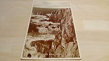 Land's End Point B&W Postcard Posted 13/05/1954 Published by H.T. James