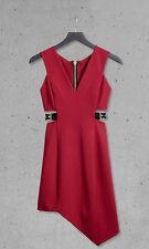 VALENTINES NWT SOLDOUT EXPRESS EDITION holiday red cut out buckle dress 0 xs