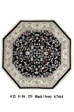 Fascinating 7x7 Woven by Hand Hunting Area Rug Exrtemly Good Look Rugs