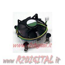 DISSIPATORE PROCESSORE CPU SOKET INTEL 775 ALLUMINIO 4 PIN PWM VENTOLA SILENT
