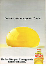 PUBLICITE ADVERTISING 034   1980   HUILOR    huile d'arachide