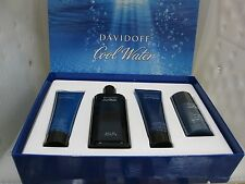 DAVIDOFF COOL WATER MEN 4 Pieces Set: 4.2 Spray,Deodorant,After Shave Balm,Gel