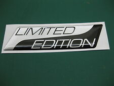 1 LIMITED EDITION DOMED STICKER Metallic Silver on Black v003 95mm x 25mm
