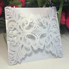 20Pcs Romantic Wedding Party Invitation Card Delicate Carved Pattern 4J03