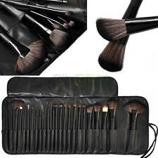 Pro 24 Pcs Makeup Brushes Cosmetic Tool Kit Eyeshadow Powder Brush Set Case