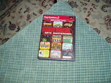 PLAYSTATION 2 NAMCO MUSEUM 50TH Anniversary Game W/ Instruction Work Great !