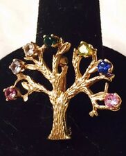 14K Yellow GOLD TREE OF LIFE Pin BROOCH  3.3 Grams