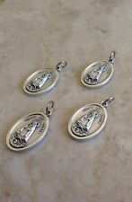 "Lot of 4 Catholic Gift 1"" Silver Plate Our Lady Of Charity Medal Pendant."