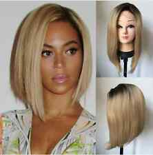 """14"""" Heat resistant Lace front wig Synthetic hair Bob straight 1B/Light blonde"""