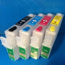 Set Refillable Empty Refill Ink Cartridges Epson T1281 T1282 T1283 T1284 Non OEM
