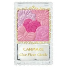 Limited! CANMAKE 08 Glow Fleur Cheeks Blush Powder with Brush / Tracking SAL