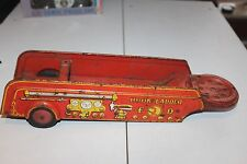 VINTAGE WYANDOTTE  PRESSED STEEL FIRE TRUCK HOOK & LADDER TRAILER
