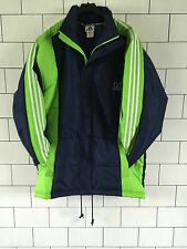 URBAN VINTAGE RETRO OLD ADIDAS ATHLETIC SPORTS QUILTED JACKET COAT SIZE UK M/L