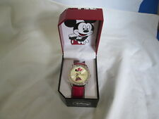 New Rare Vintage  Accutime Disney Minnie Mouse Watch Pink Crystal Edge Pink Band