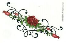 LETHAL THREAT * ROSES * LOWER BACK TEMPORARY TATTOOS TRAMP STAMP * US SELLER