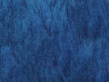 Blue Cobalt Plain Faux Fur Fabric Short Hair 150cm Wide SOLD BY THE METRE