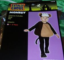 TOTALLY GHOUL TODDLERS MONKEY HALLOWEEN COSTUME SIZE 1-2 YEARS NEW!
