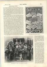 1898 cartel para Garrick Theatre Ramsgate Colegiales Mercader de Venecia