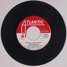 ARETHA FRANKLIN: You're All I Need to Get By USA ATLANTIC Soul PROMO 45 NM-