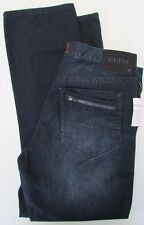 NWT Guess Jeans Del Mar Fit Lacon Slim Straight Dark Wash Size W 33 x L 30