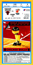 NBA RECORD! CHI BULLS SCORED ONLY 49 POINTS TICKET STUB-LOWEST EVER-4/10/99-HEAT