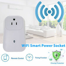Smart WiFi Remote Control Timer Switch Power Socket Outlet US Plug for Cellphone