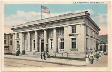 U.S. Post Office in Charleroi PA Postcard 1921