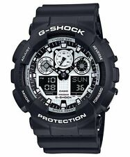 Casio Men's G-SHOCK Black & White 3-Eye Black Watch GA100BW-1A