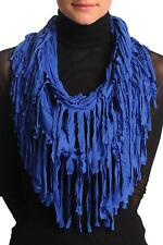Persian Blue With Tassels Snood Scarf (SF001283)