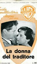 BROCHURE,LA DONNA DEL TRADITORE,To the Victor,Daves.Lindfors,Dorothy Malone 1949