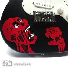 Screaming Zombie Electric guitar graphic - Gibson Epiphone Decal sticker
